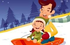 Cartoon Family Life Vector Illustration 03