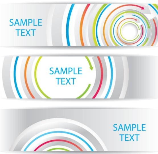 Free Colorful Circular Arrows Banner Templates Vector 01 - TitanUI