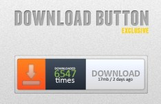 Fashion Download Button Template PSD