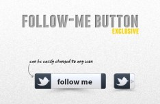 Fashion Social Follow Me Button Template PSD