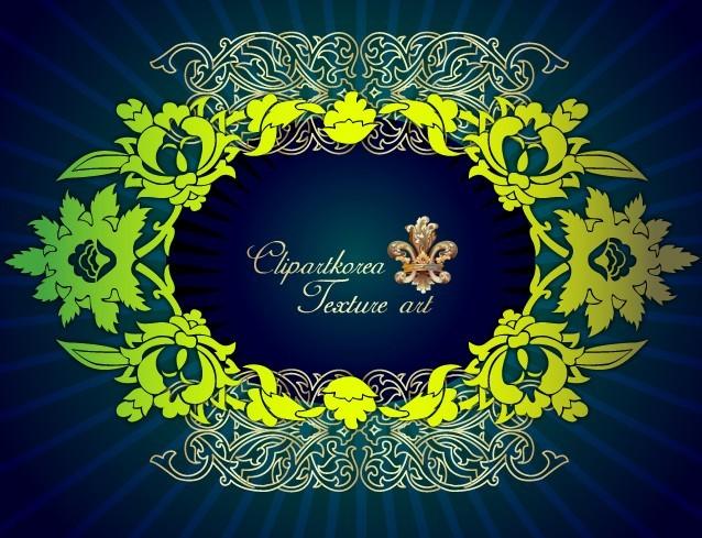 Vector Golden Royal Floral Ornamental Pattern 04