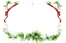 Vector Holiday Decorative Borders With Ribbons 02