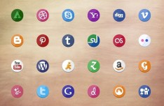 36+ Rounded Social Icons Pack PSD