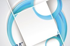 Abstract Blue Grid and Circles Background Vector