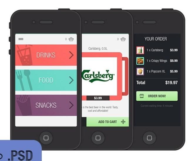 iPhone App UI Elements PSD
