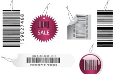 Vector Simple Barcode Tags