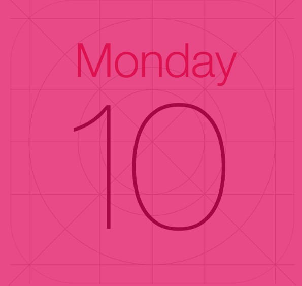 iOS 7 Calendar Icon PSD Template