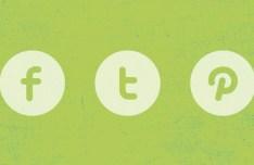 3 Super Simple Flat Social Icons PSD