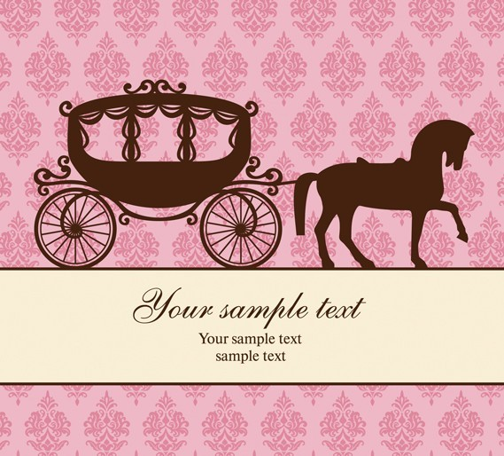 Free Retro Romantic Wedding Card Template Vector - Titanui
