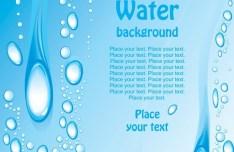Fresh Blue Water Background Vector