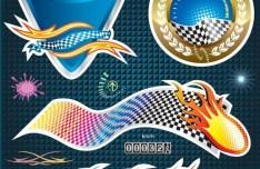 Vector Formula Racing Car Stickers