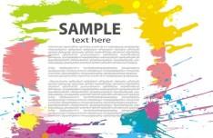 Colour Splash Vector Frame