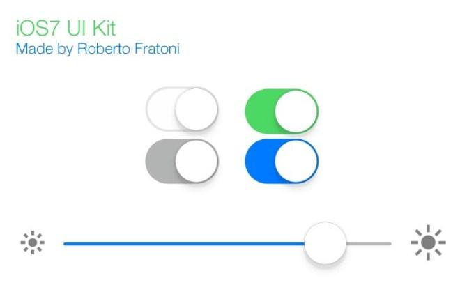 Minimal iOS 7 UI Kit PSD