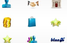 3D Sleek Commercial Icons Pack PSD