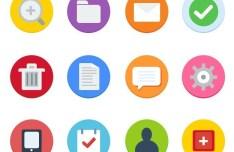 Circular Flat Style Web Icon Set