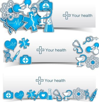 Fresh and Clean Medical Banners Vector 04