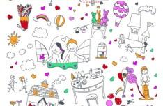 Vector Cartoon Child's Sketch 01