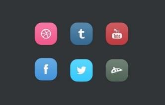 6 Minimal iOS 7 Style App Icons PSD