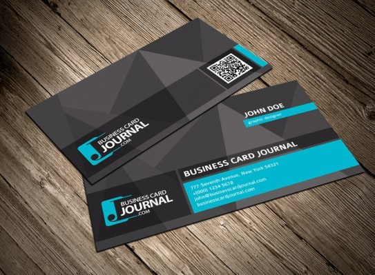 Free dark business card template with qr code psd titanui dark business card template with qr code psd flashek Images