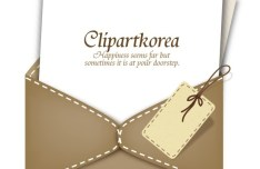Vintage Leather Envelope and Note Paper Vector