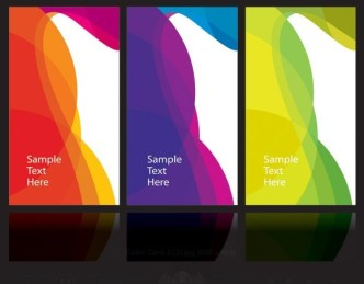 Abstract Color Block Cards Vector 01