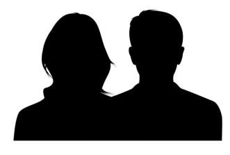 Couple Silhouette PSD