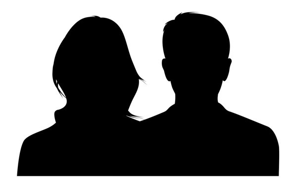 Couple Silhouette PSD