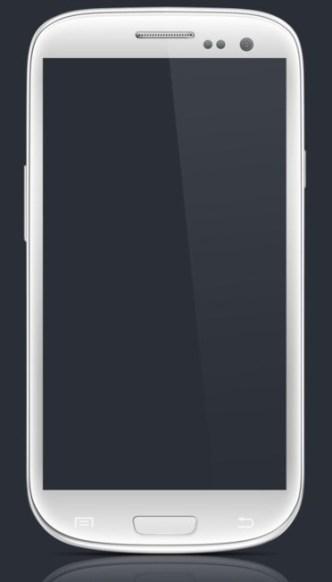 Samsung Galaxy S3 PSD Mockup