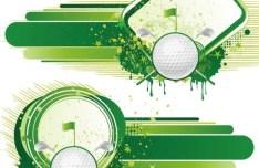 Vintage Grunge Splash Golf Background Vector