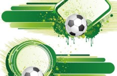 Vintage Grunge Splash Soccer Background Vector