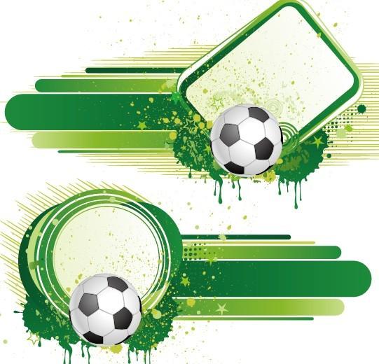 Vintage Grunge Splash Soccer Background Vector