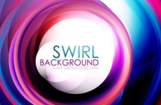 Colorful Abstract Swirls Background Vector