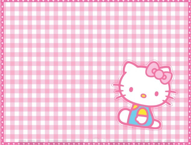 Pink Hello Kitty Square Background Vector