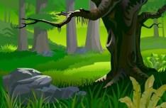 Vector Forest Landscape Illustration 03
