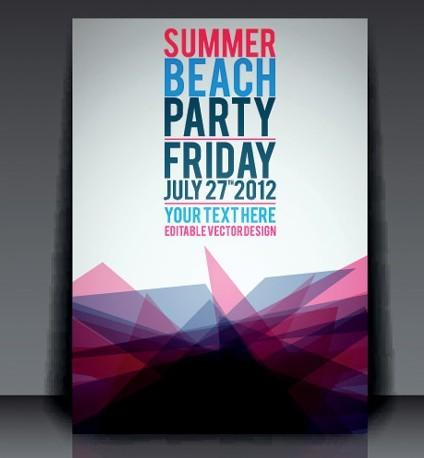 Free Vector Summer Beach Party Flyer Template 02 Titanui