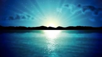 Vector Sunrise & Sunset At Sea 03