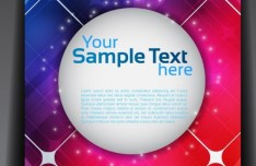 Fantastic Magazine Flyer Template with Colorful Abstract Background Vector 02