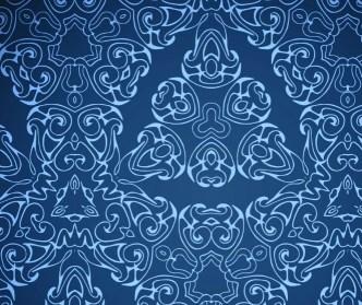 Seamless Floral Damask Ornamental Pattern Background Vector 03