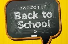 Back To School Concept Background Illustration Vector 02