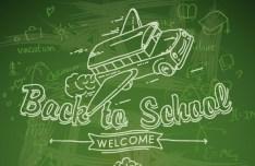 Back To School Concept Background Illustration Vector 03
