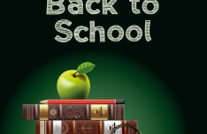 Back To School Concept Background Illustration Vector 04