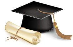 Vector Diploma and Graduation Cap 01