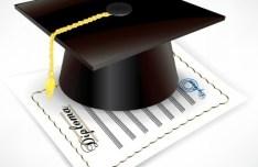Vector Diploma and Graduation Cap 05