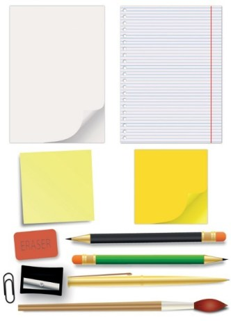 Vector Essential Stationery for Students 02