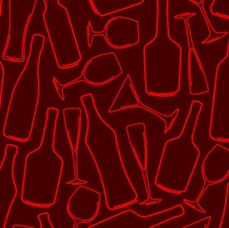 Vector Sketch Foods and Drinks Patterns 03