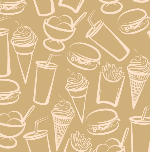 free vector sketch foods and drinks patterns 05 titanui
