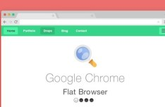 Flat Style Web Browsers PSD