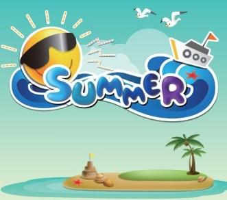 Fresh Cartoon Summer Fun Vector Illustration 01