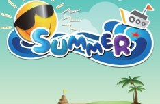 Fresh Cartoon Summer Fun Vector Illustration 01