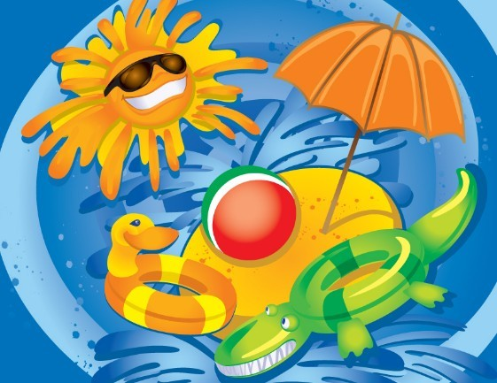 Fresh Cartoon Summer Fun Vector Illustration 02